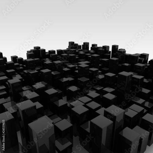 Zdjęcie XXL cubes random black