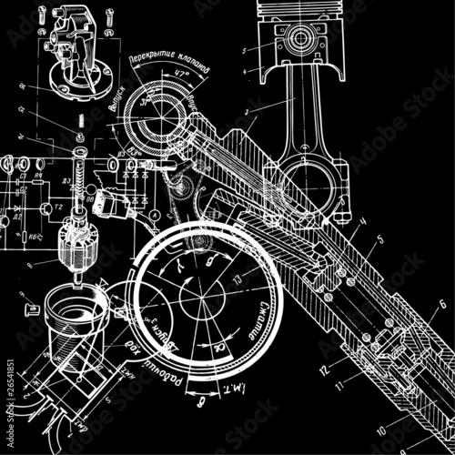 Fotografía  technical drawing
