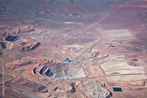 Valokuva  aerial view of open-pit copper mine in Atacama desert, Chile