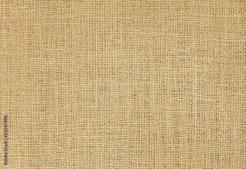Poster de jardin Tissu Close-up of natural burlap hessian sacking