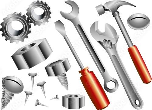 Αφίσα  Attrezzi da Lavoro-Work Tools-Vector