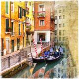 kanały Wenecji - obraz w stylu retro - 26573065
