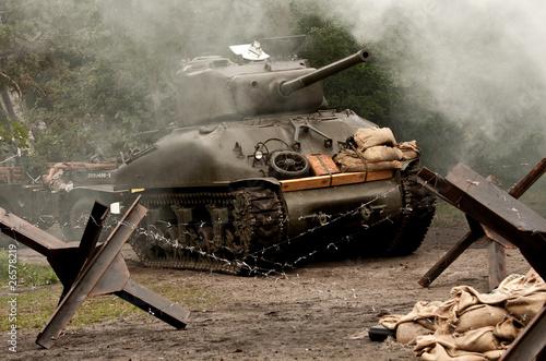 Fotografie, Tablou Sherman Tank  – WW II