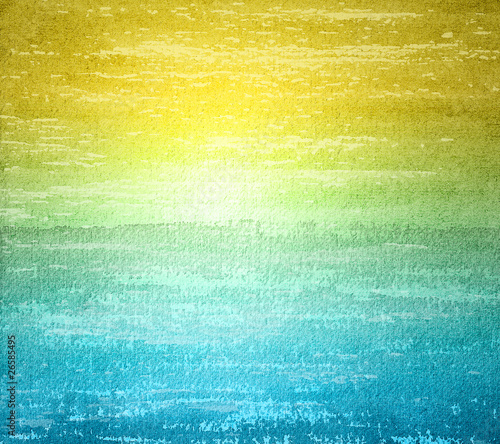 Poster Jaune Abstract watercolor background in grunge style