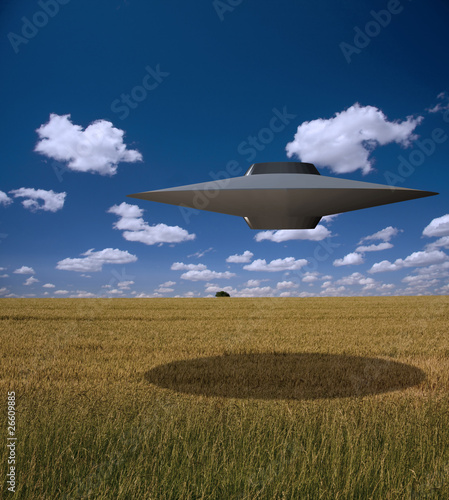 Photo sur Toile UFO High Resolution Saucer Shaped Craft