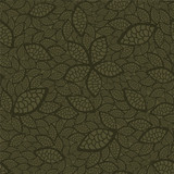 Seamless green leaves wallpaper