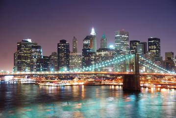 Panel Szklany Podświetlane Nowy York New York City Manhattan
