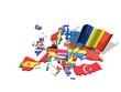 3D Karte mit Flagge