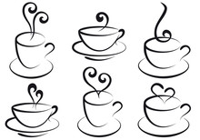 Coffee And Tea Cups, Vector