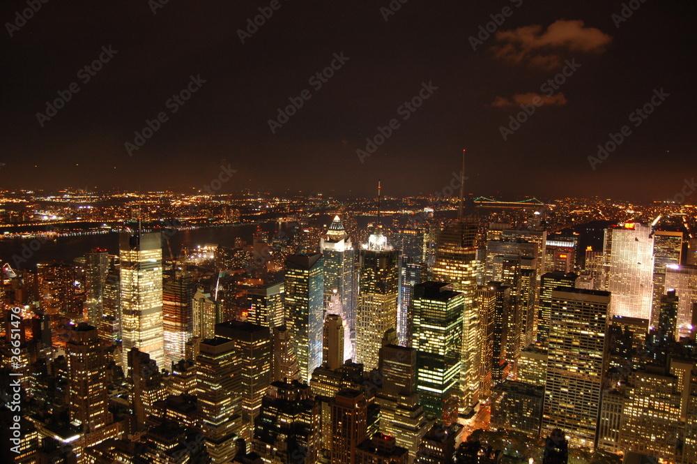 Fototapety, obrazy: Night in New York City, Manhatan