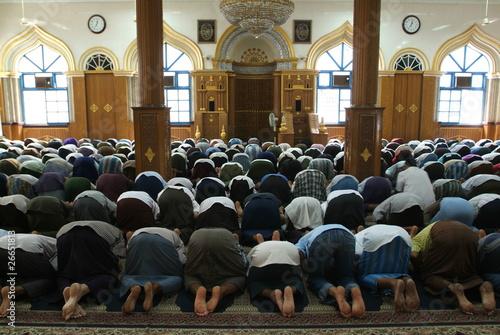 Fotografija  Pregiera nella moschea a Yangon