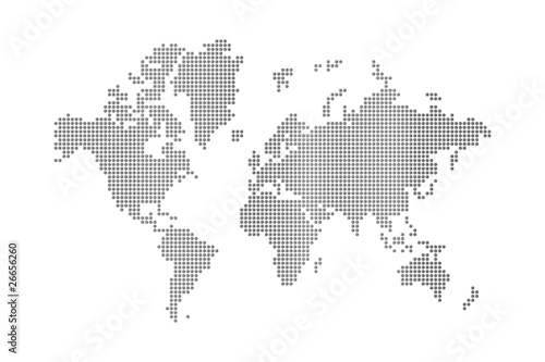Türaufkleber Weltkarte dots world map