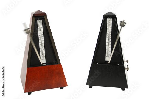 Photo The image of metronomes