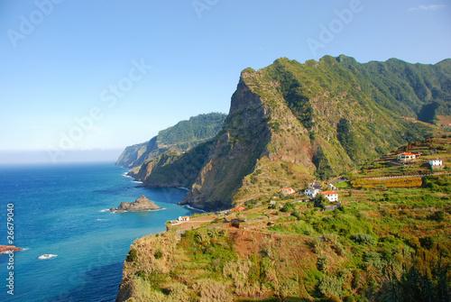 Fotografie, Obraz  Madeira Island - rocks, blue sky and atlantic ocean