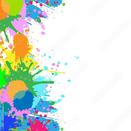 Tuinposter Vormen Colorful bright ink splashes on white background