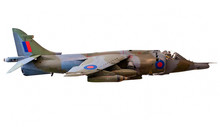 British Harrier Fighter Jet Isolated On White