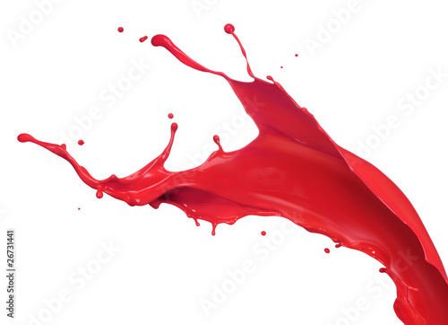 Acrylic Prints Form red paint splash