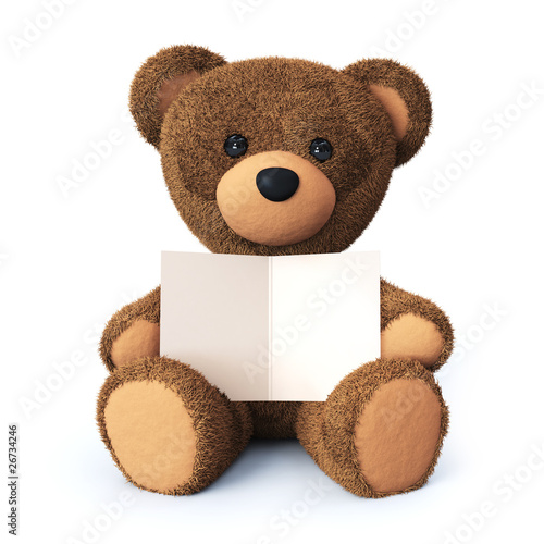 Teddy bear with greeting card #26734246