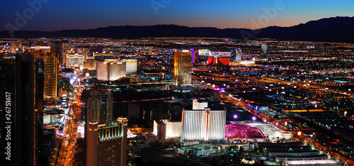 Foto op Plexiglas Las Vegas Las Vegas skyline panorama at night