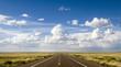 canvas print picture - Scenic stretch of Route 66 in Arizona