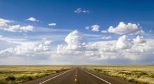 Scenic Stretch Of Route 66 In Arizona