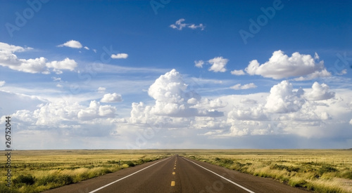 Scenic stretch of Route 66 in Arizona Canvas Print