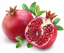 Juicy Pomegranate And Its Half...