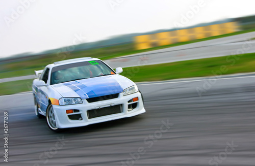 Deurstickers Snelle auto s racing car drift