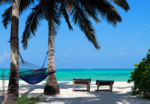 Autocollant pour porte Zanzibar Perfect tropical beach