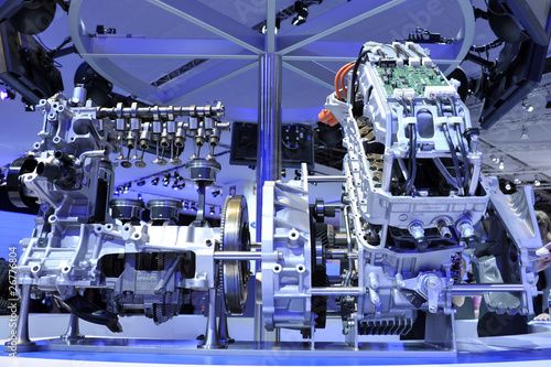 Photo  moteur hybride