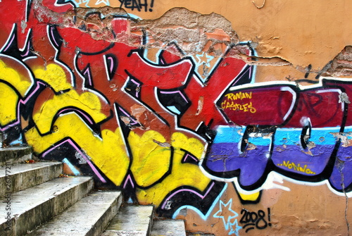 Foto op Aluminium Graffiti Popspray