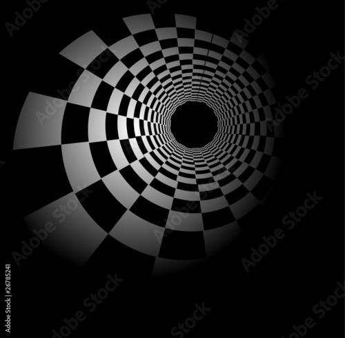 Plakaty czarno białe radial-szachy-w-tle