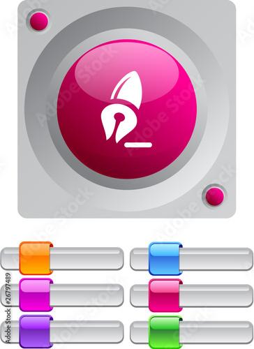 Pen color round button. Canvas-taulu