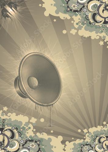 Tuinposter Vintage Poster Disco Party Sunshine Live