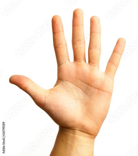 Fototapeta hand symbol