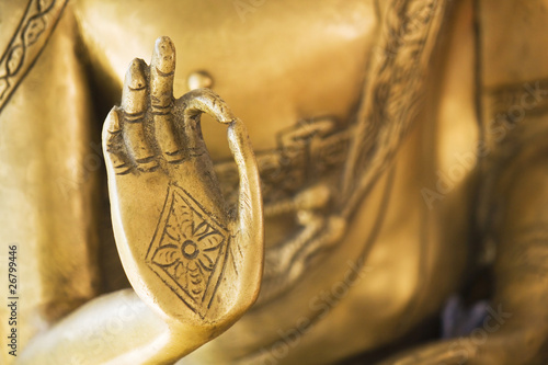 Spoed Foto op Canvas Boeddha Hand of the golden Buddha 02