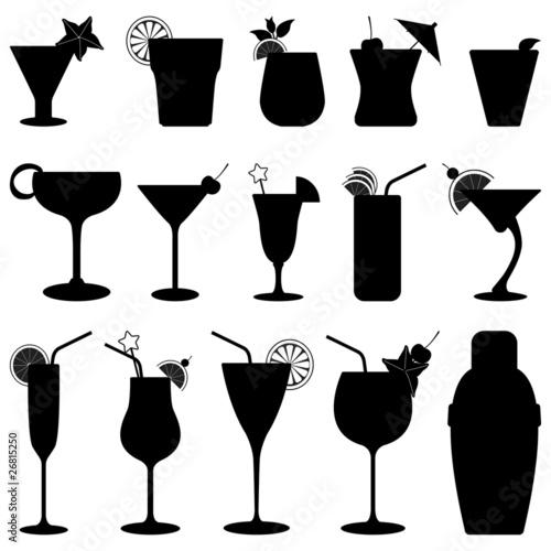Fotografia  Cocktail Drink Fruit Juice Silhouette