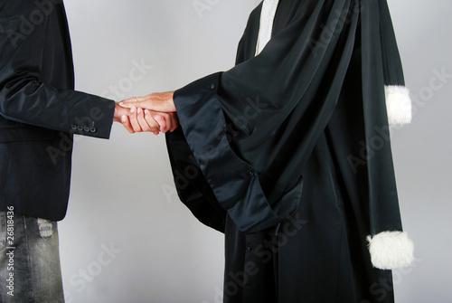 Photo  Justice - Avocat réconfortant un client