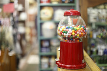 Gumball Machine On The Counter