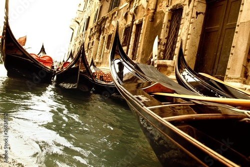 Poster Channel Traditional Venice gandola ride