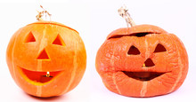 Jack-o'-lantern Before And After Halloween
