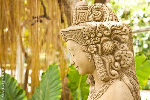 Thai female stone sculpture