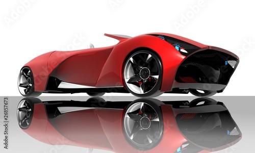 Spoed Fotobehang Snelle auto s Red car