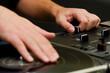 Hip-hop DJ scratching the vinyl