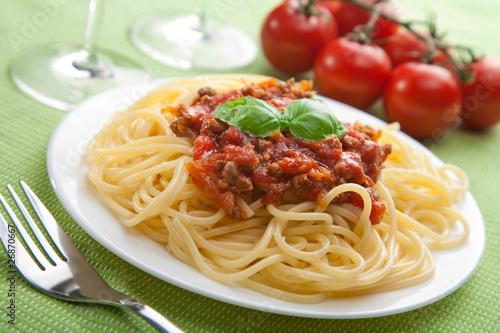 Fotografía  spaghetti bolognese