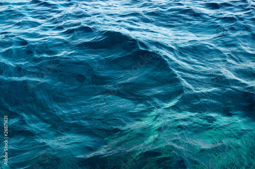 Fotografie, Tablou Rippled blue water surface
