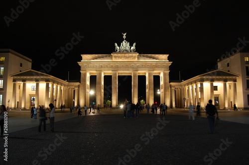 Fotobehang Volle maan Brandenburger Tor