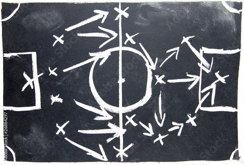 Fotografie, Obraz  strategy plan on drawboard