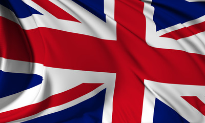 United Kingdom flag Close Up
