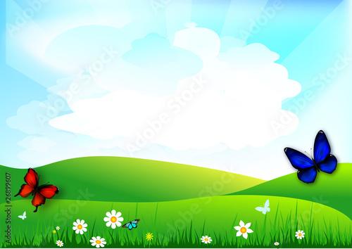 Photo sur Toile Bleu clair Printemps